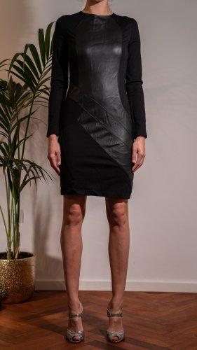 Steffen Schraut Vestido de cuero negro Cuero