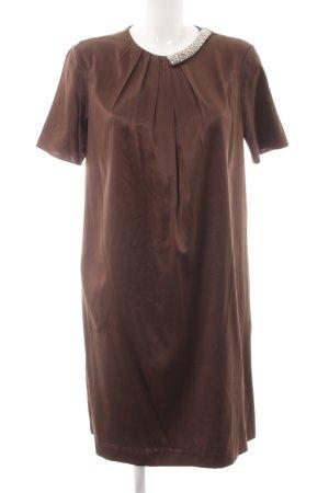 Steffen Schraut Abendkleid dunkelbraun-silberfarben Elegant
