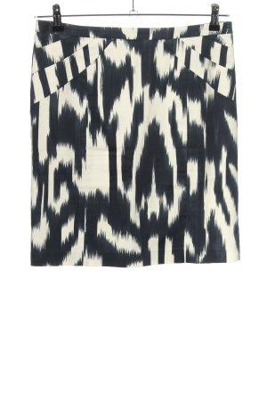 Steffen Schraut Bleistiftrock schwarz-weiß abstraktes Muster Casual-Look