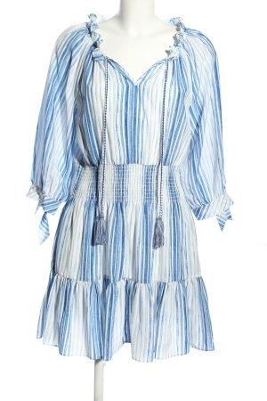 Steffen Schraut Abito blusa bianco-blu motivo a righe stile casual