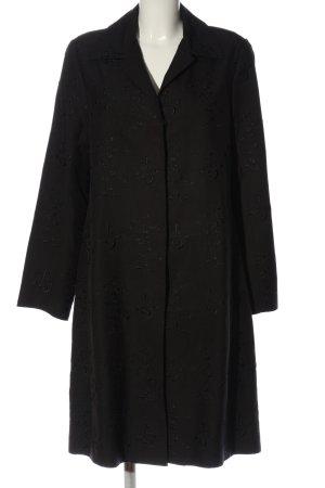 Steffen Schraut Długi płaszcz czarny W stylu biznesowym