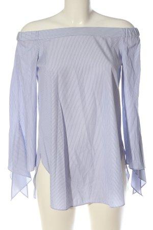 Steffen Schraut Carmen Blouse blue-white allover print business style