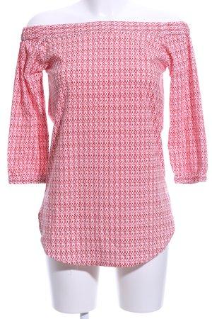 Steffen Schraut Carmen Blouse white-red allover print casual look