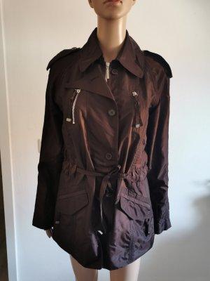 Steffen Schraut Damen Übergangsjacke leichte Jacke glänzend braun Größe 36