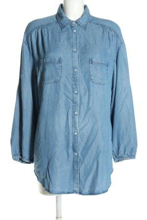 Steffen Schraut Chemise en jean bleu style décontracté