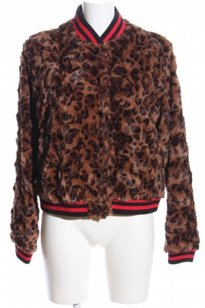 Steffen Schraut Fake Fur Jacket brown-black leopard pattern casual look