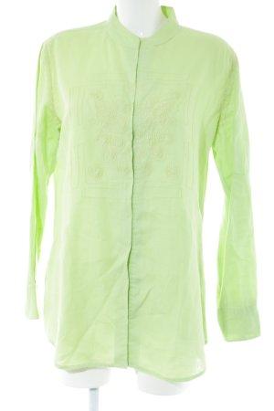 Steffen Schraut Camisa de manga larga verde look casual