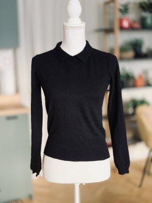 Steffen Schraut Jersey de lana negro Cachemir