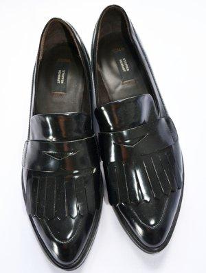 Steffen Schraut Madison Ave Loafer Schuhe Slipper spitz 37 Leder