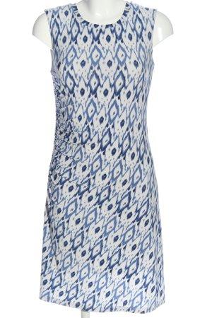 Steffen Schraut Minikleid weiß-blau abstraktes Muster Elegant