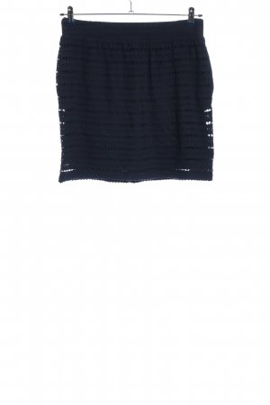 Steffen Schraut Mini rok blauw gestreept patroon casual uitstraling