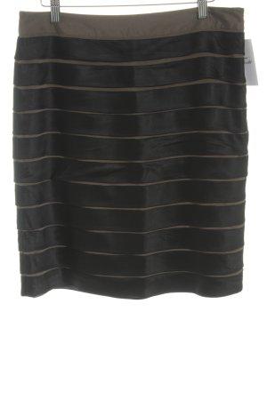 Steffen Schraut Mini rok zwart-grijs-bruin gestreept patroon elegant