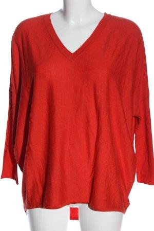 Steffen Schraut Jersey holgados rojo Patrón de tejido look casual