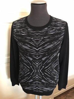 STEFFEN SCHRAUT Pullover Pulli Schwarz-Weiß Muster Gr. 36 Neu 249€
