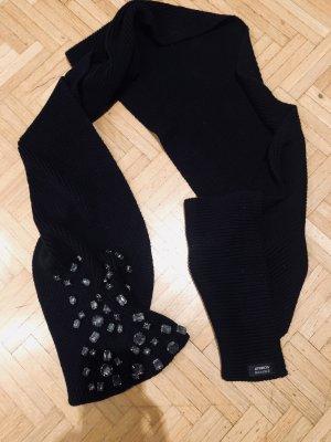 Steffen Schraut Knitted Scarf black-silver-colored