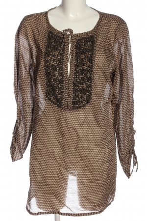 Steffen Schraut Slip-over Blouse natural white-brown graphic pattern casual look