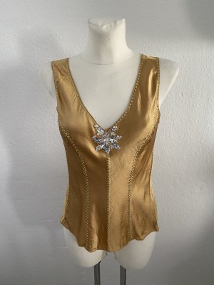 Steffen Schraut Silk Top gold-colored
