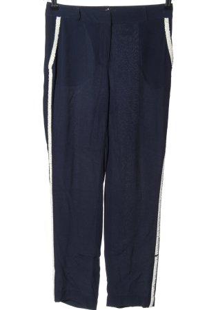 Steffen Schraut Pantalone jersey blu-bianco stile casual