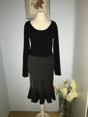 Steffen Schraut Knitted Dress black-white