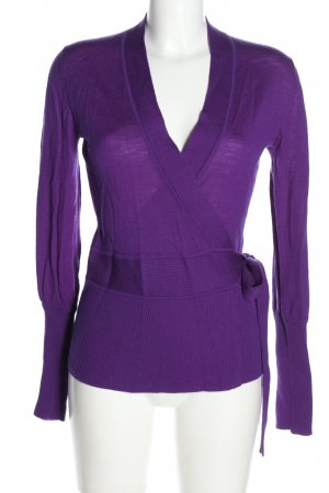 Steffen Schraut Knitted Wrap Cardigan lilac casual look