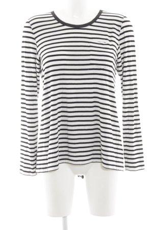 Steffen Schraut Sweatshirt weiß-schwarz Streifenmuster Casual-Look