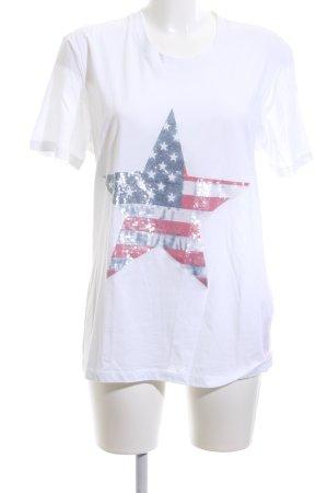 Steffen Schraut T-Shirt weiß Motivdruck Casual-Look