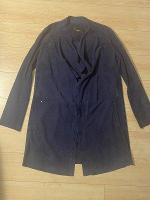 Steffen Schraut Abrigo de cuero azul Cuero