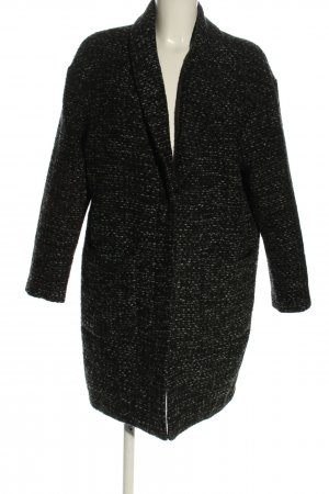 Steffen Schraut Winterjas lichtgrijs-zwart gestippeld zakelijke stijl