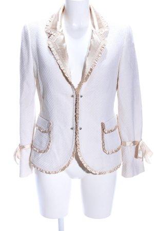 Steffen Schraut Blazer in lana bianco-oro stile professionale