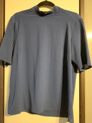 y.a.s Blusa de cuello alto azul aciano-gris pizarra