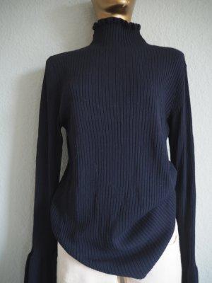H&M Jersey de cuello alto azul oscuro