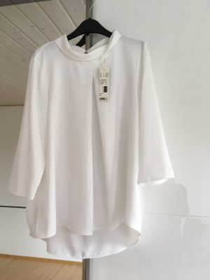 Esprit Stand-Up Collar Blouse white