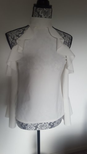 I-X London Blusa de cuello alto blanco