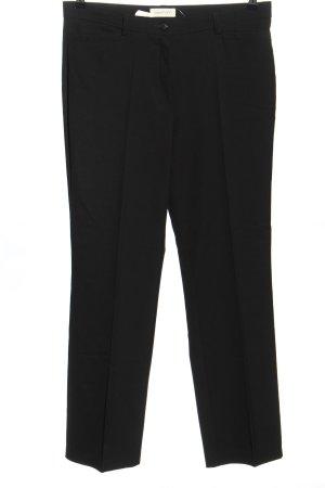 Stehmann Pantalone da abito nero puntinato stile casual