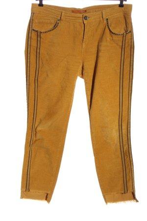 Stehmann Corduroy broek licht Oranje casual uitstraling