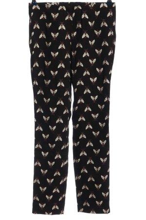 Stehmann Pantalone jersey nero-bianco stampa integrale stile casual