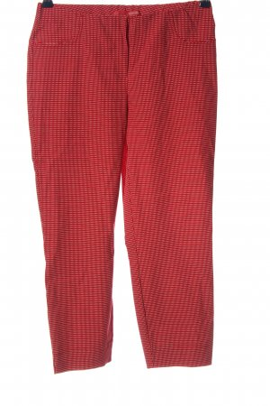 Stehmann Stretchhose rot-weiß Allover-Druck Casual-Look