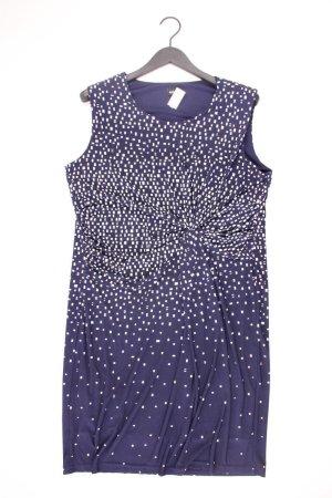 Steilmann Abendkleid Größe 46 geometrisches Muster neuwertig Ärmellos blau aus Polyester
