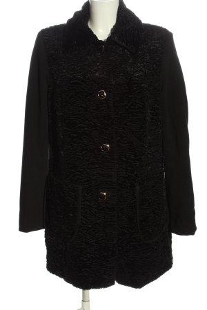 Steilmann bodenlanger Mantel schwarz Casual-Look