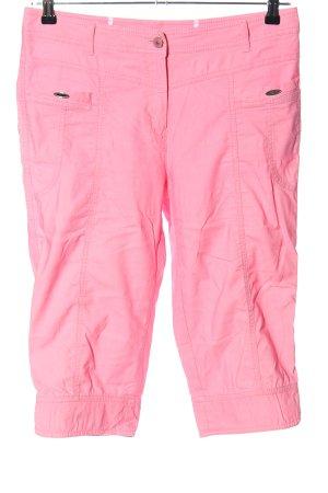 Steilmann Spodnie Capri różowy W stylu casual
