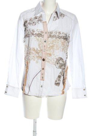 Steilmann Shirt Blouse white-brown themed print business style