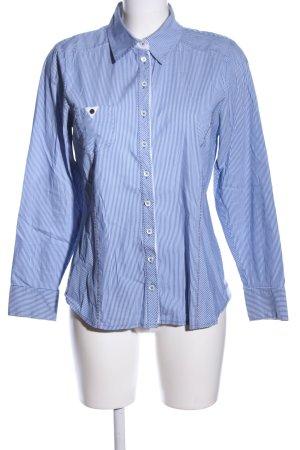 Steilmann Hemd-Bluse blau-weiß Streifenmuster Business-Look
