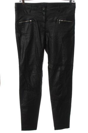 Steilmann Faux Leather Trousers black casual look