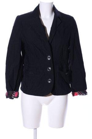 Steilmann Korte blazer zwart abstract patroon zakelijke stijl