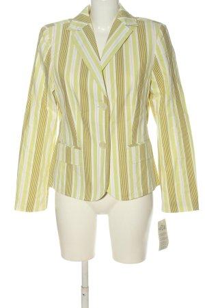 Steilmann Korte blazer groen-wit volledige print casual uitstraling