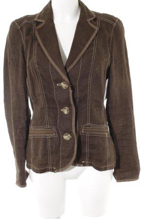 Steilmann Korte blazer grijs-bruin casual uitstraling