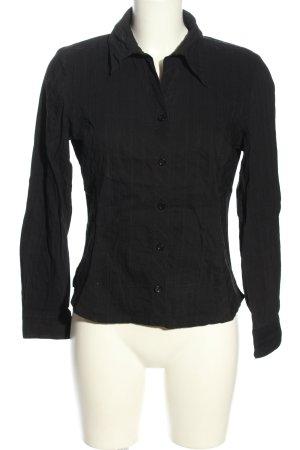 Steilmann Langarm-Bluse schwarz Streifenmuster Business-Look