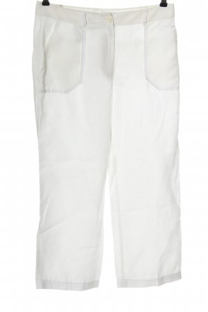 Steilmann Pantalone di lino bianco stile casual