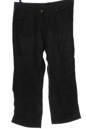 Steilmann Pantalon en lin noir style décontracté