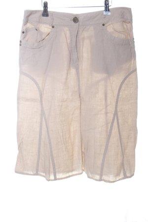 Steilmann Falda de lino crema look casual